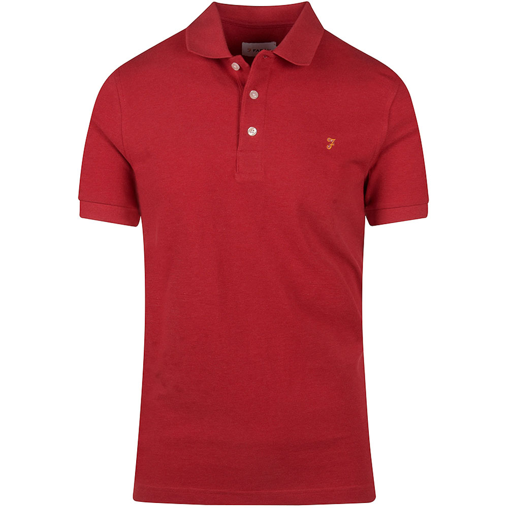 Blanes SS Polo Shirt in Red
