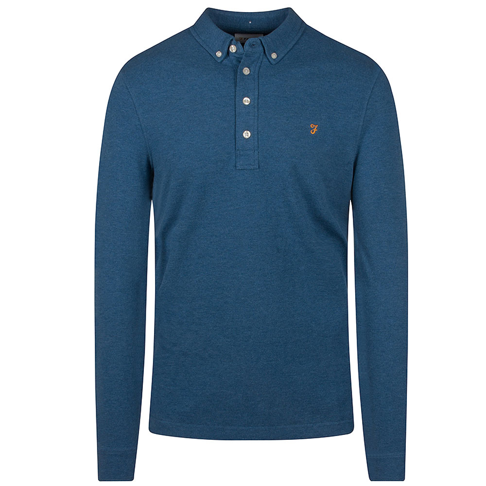 Ricky LS Polo in Blue