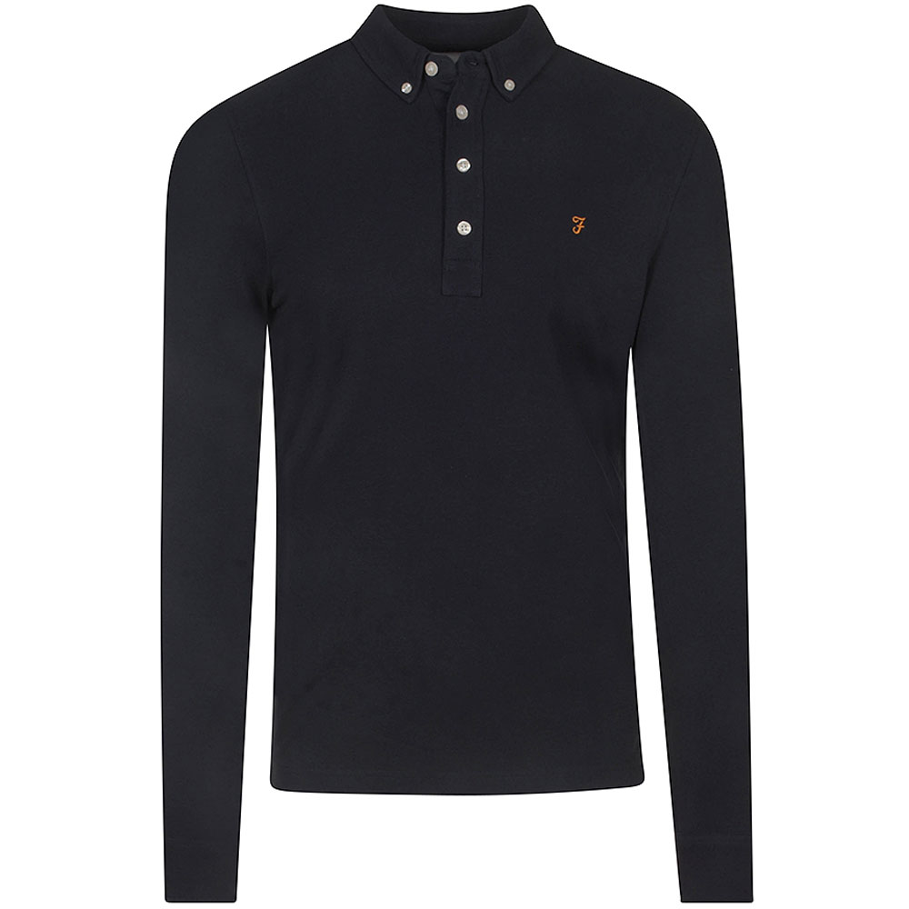 Rick LS Polo in Navy