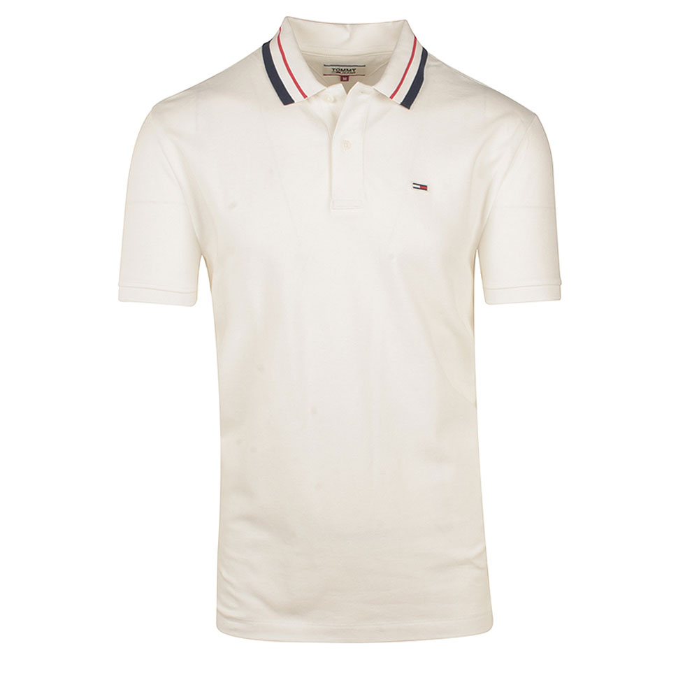 TJM Classics Tipped Stretch Polo in White