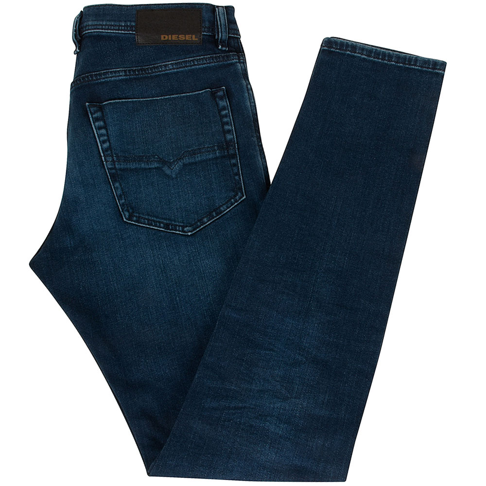 Tepphar X Slim Fit Jeans in Mid Stn
