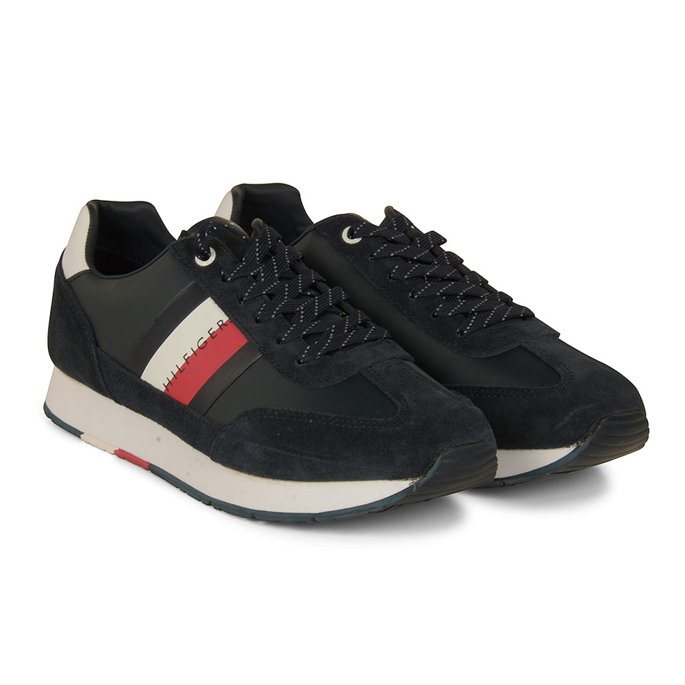 Corporate Leather Trainer in Navy