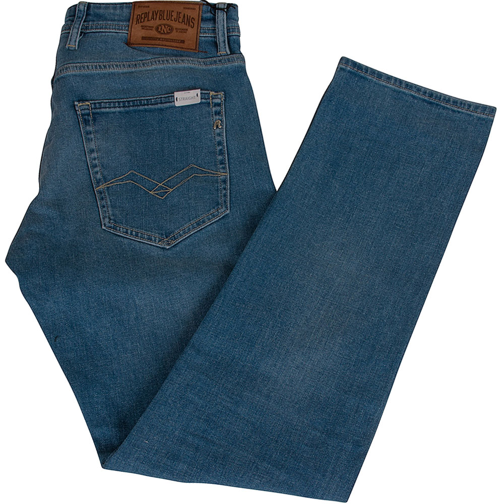 Grover Straight Jean in Lt Stone