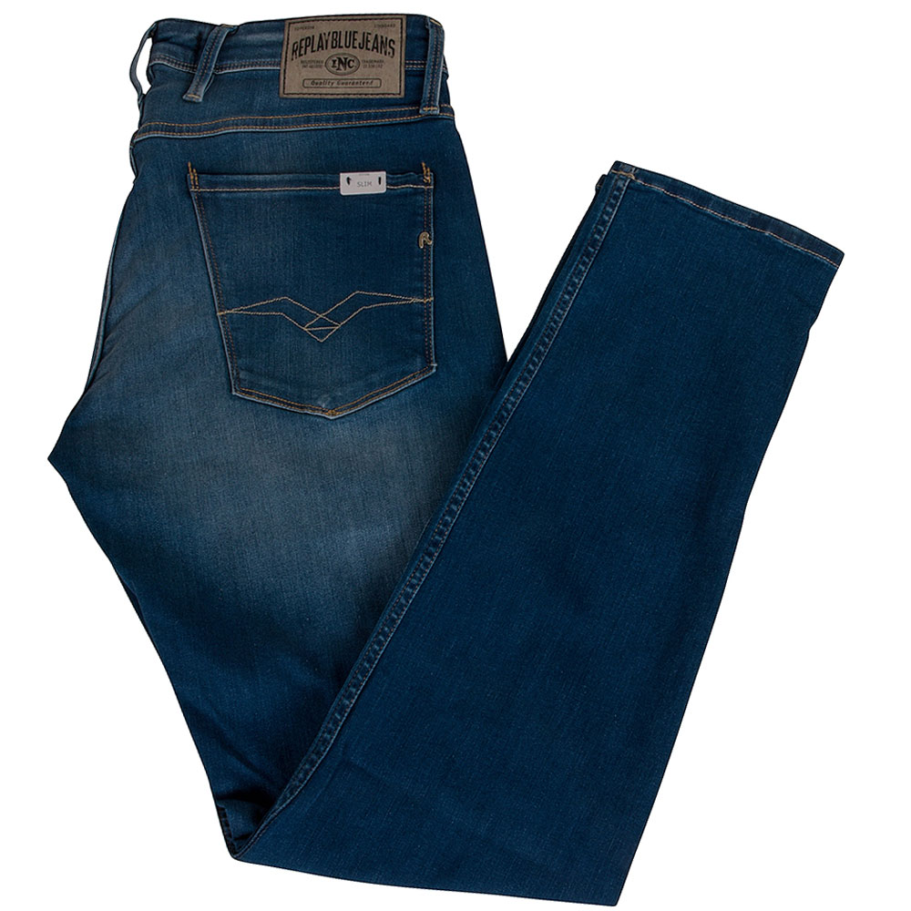 Anbass Stretch Jean in Mid Stn