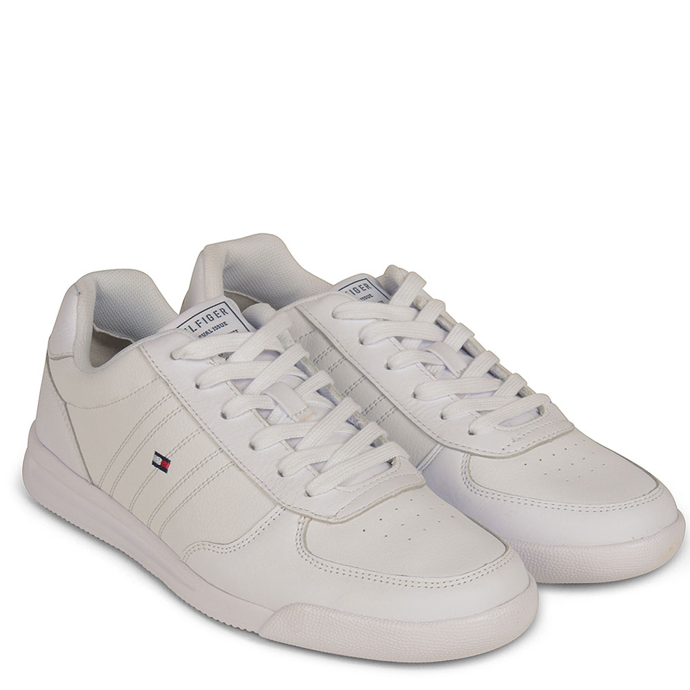 Lightweight Leather Trainer in White