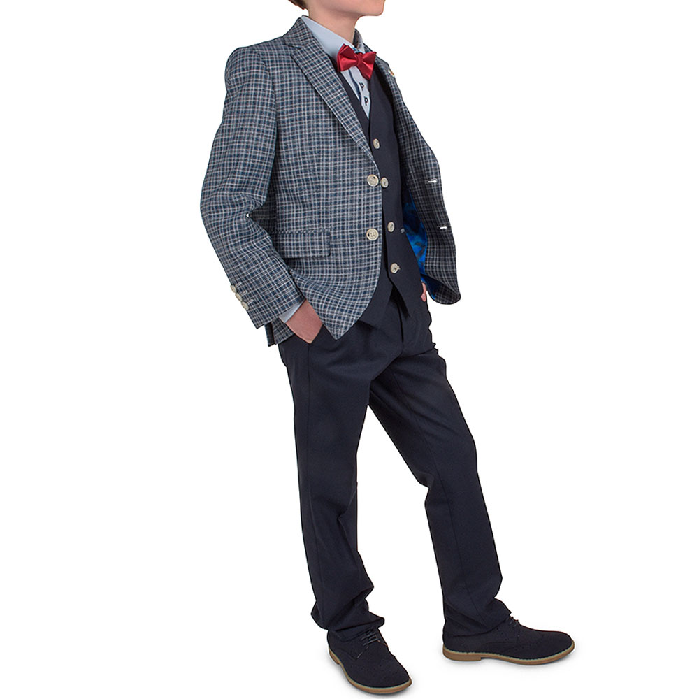 Boys D'arcy Suit in Navy