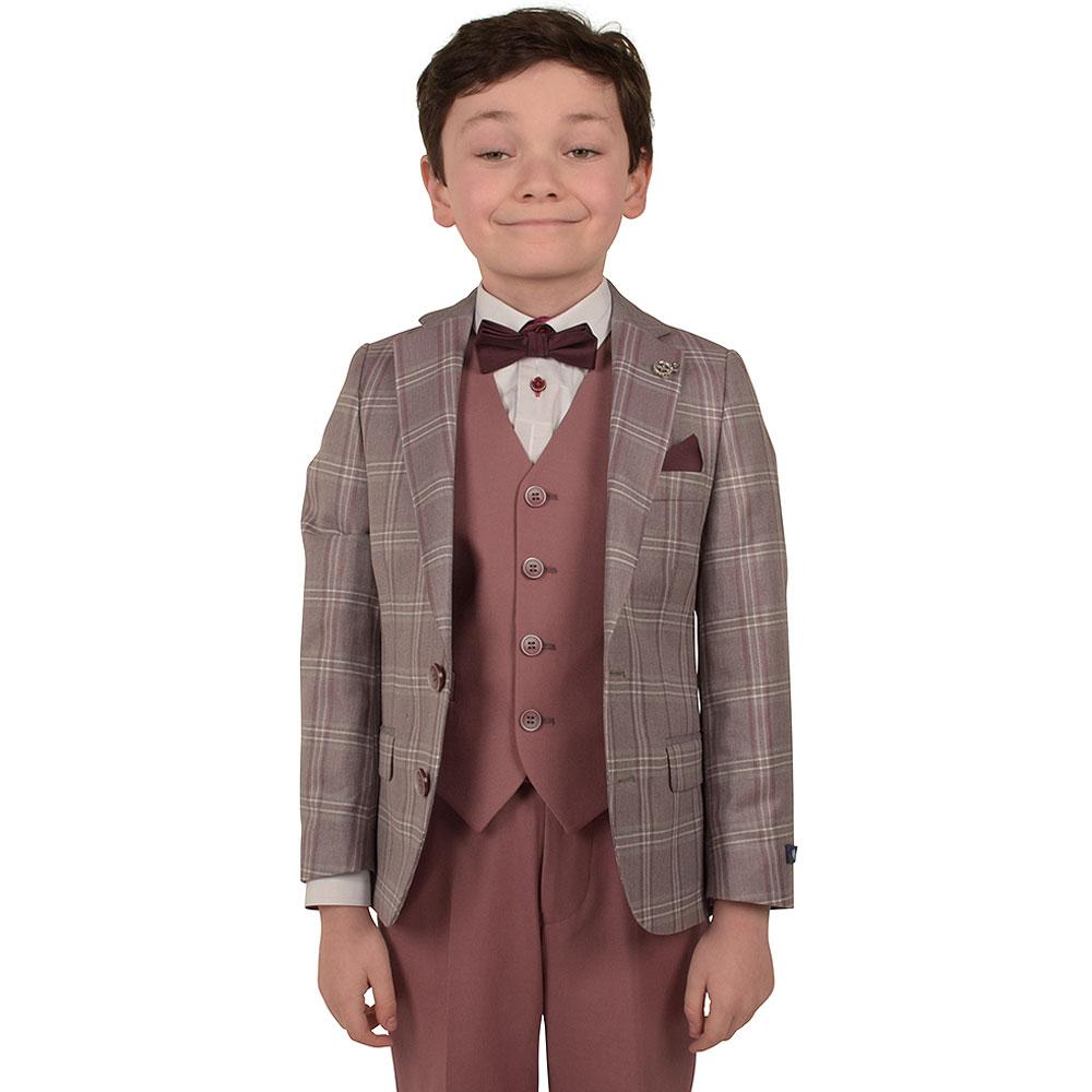 Davis Junior Waistcoat in Pink
