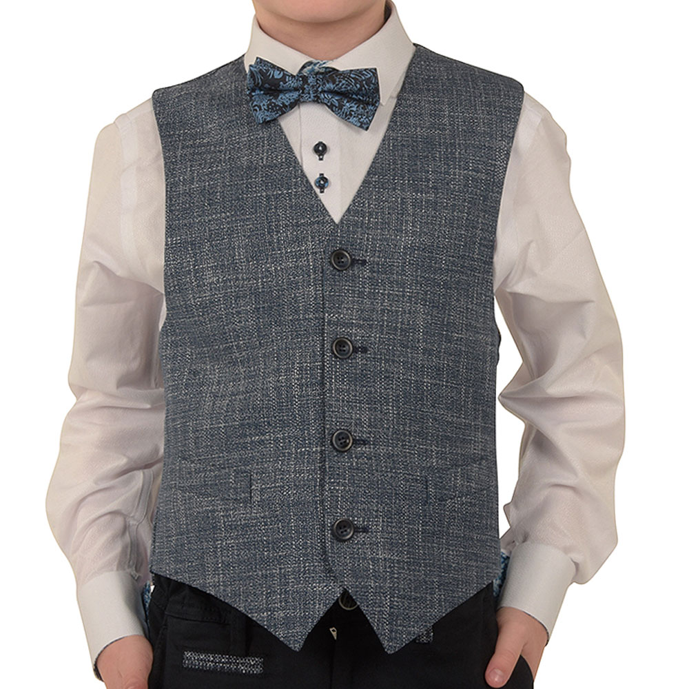 Boys Doyle Waistcoat in Blue