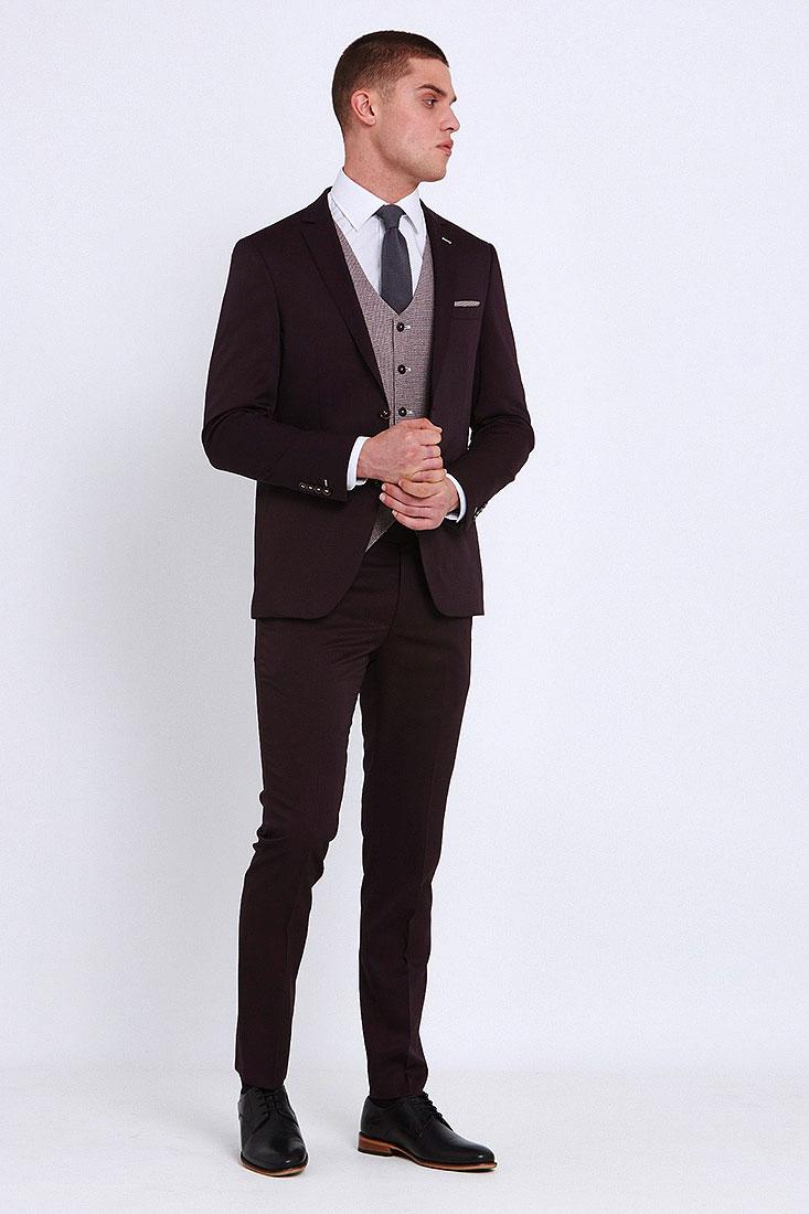 Louis Suit in Wine