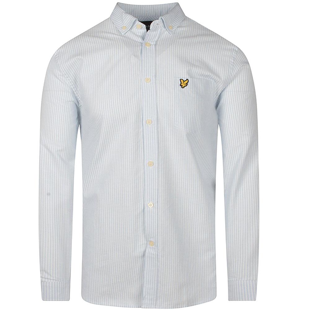 Fine Stripe Shirt in Lt Blue