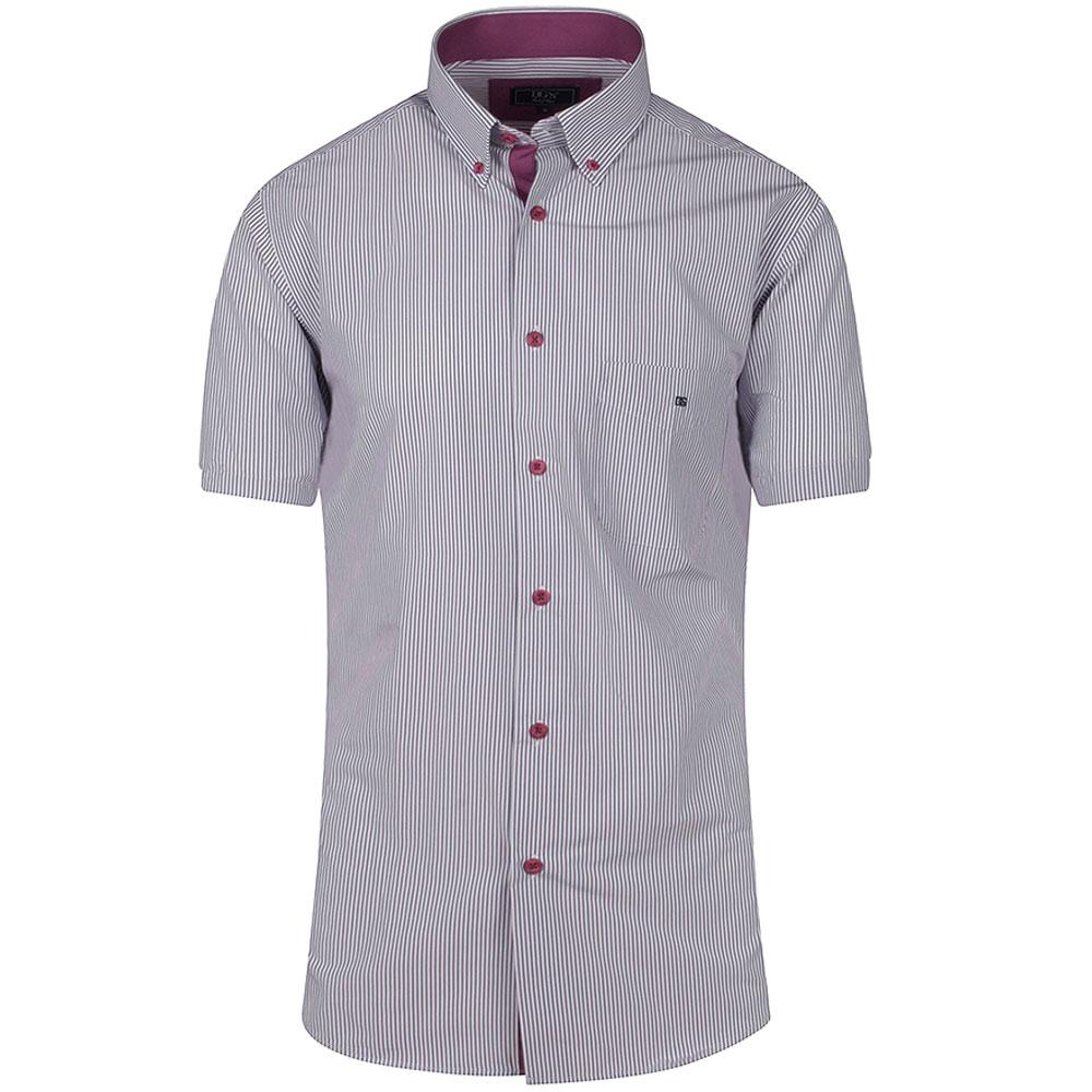 Geneva Half Sleeve Shirt in Red
