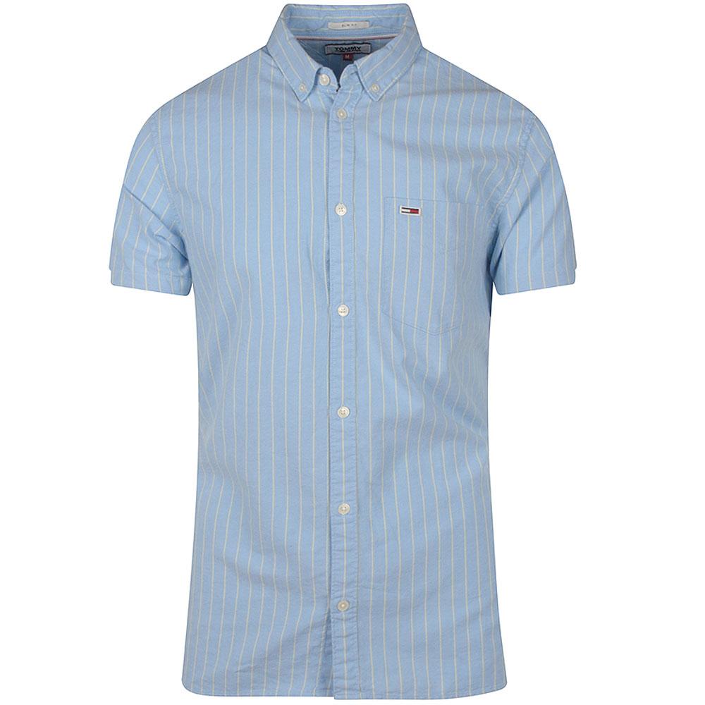 Short Sleeve Stripe Shirt in Lt Blue