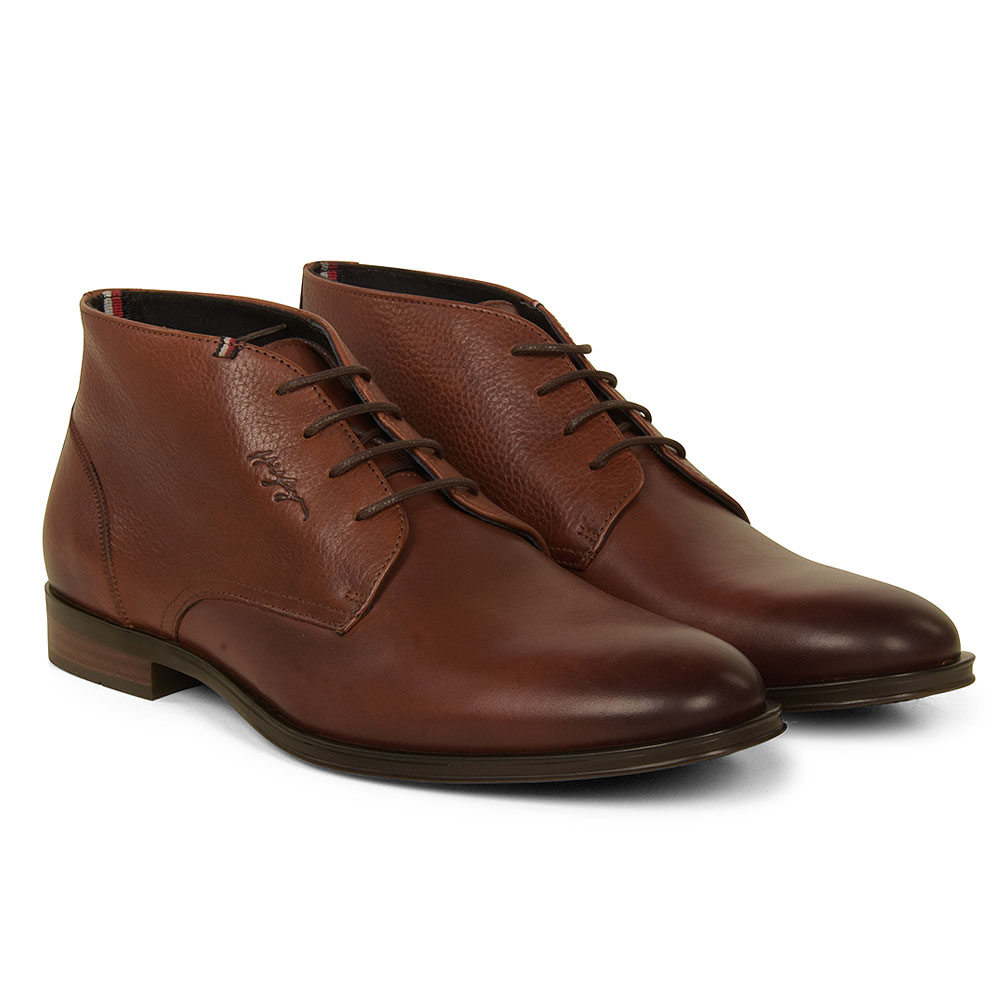 Leather Mix Chelsea Boot in Tan