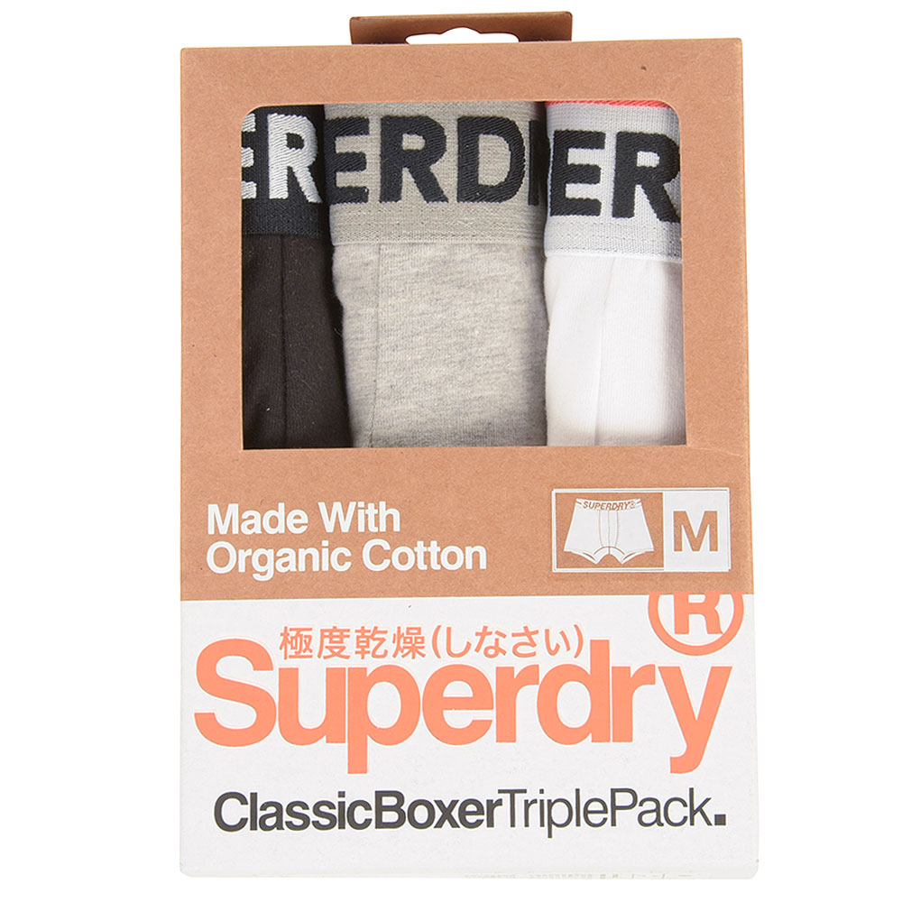 Triple Pack Boxer in Black
