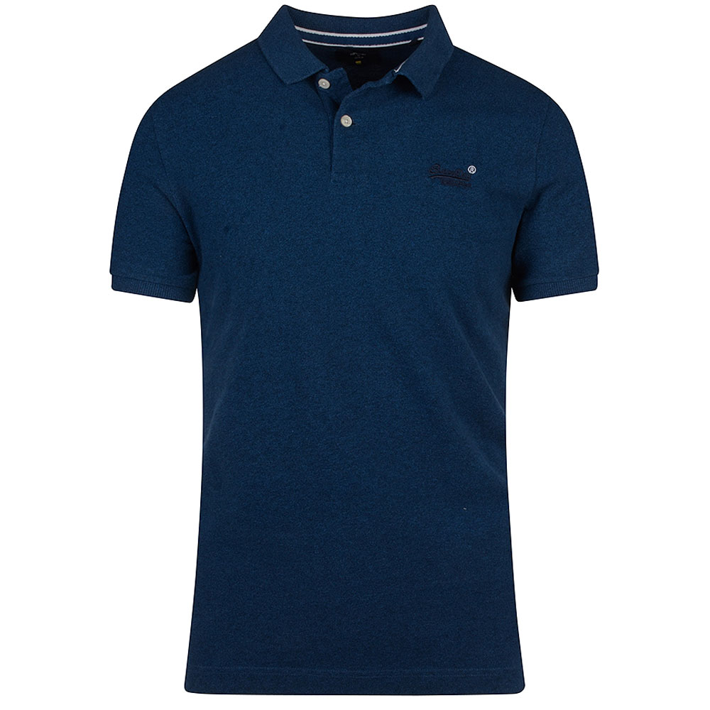 Classic Pique Polo in Blue