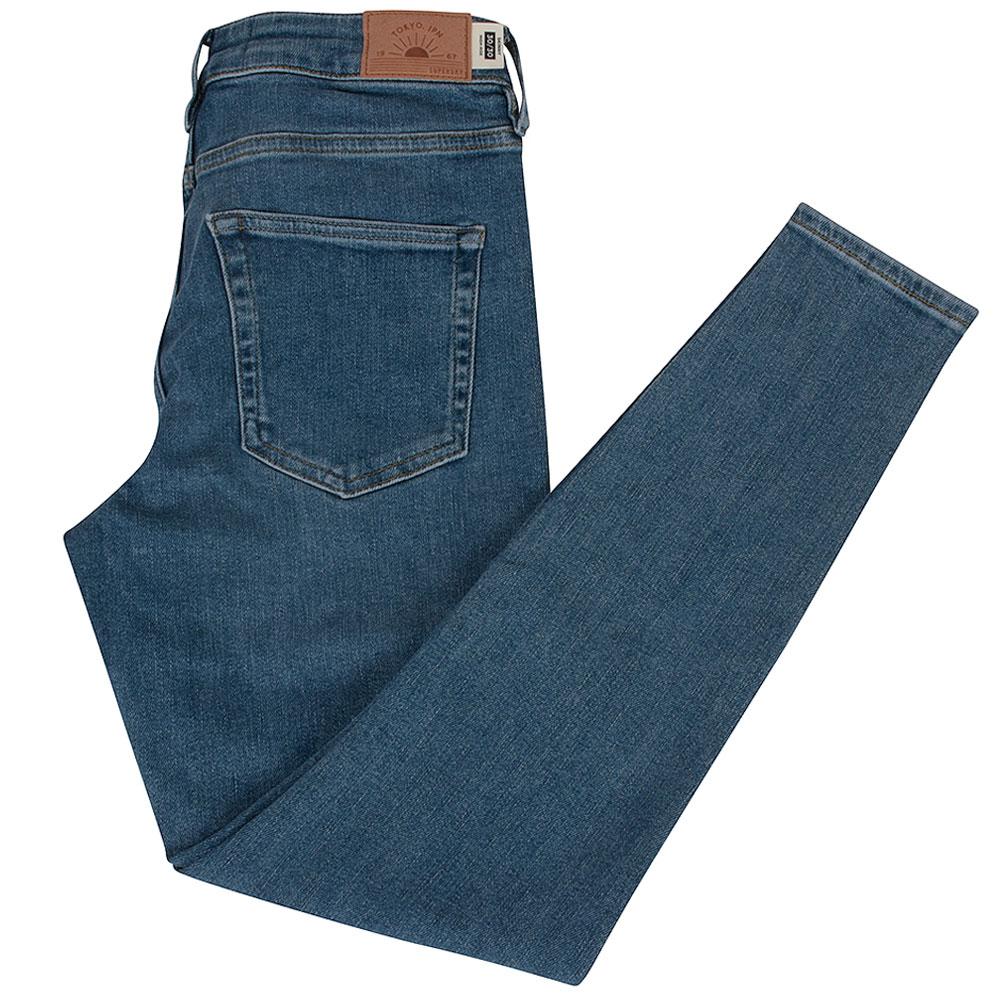 High Rise Womens Skinny Jean in Blue