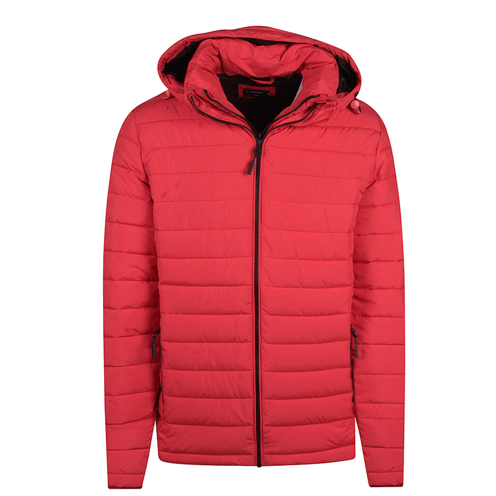 Fuji Hooded Jacket in Red