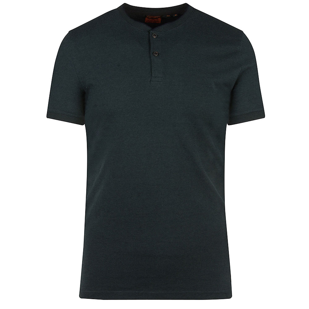 Henley SS Grandfather T-Shirt in Green