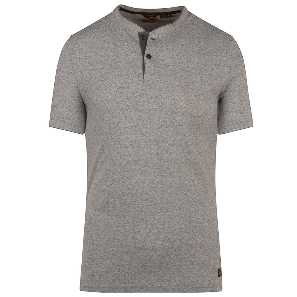 Henley SS Grandfather T-Shirt in Grey