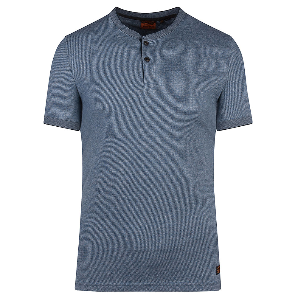 Henley SS Grandfather T-Shirt in Navy