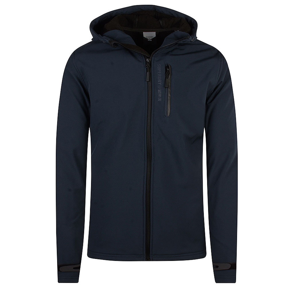Hooded Softshell in Navy