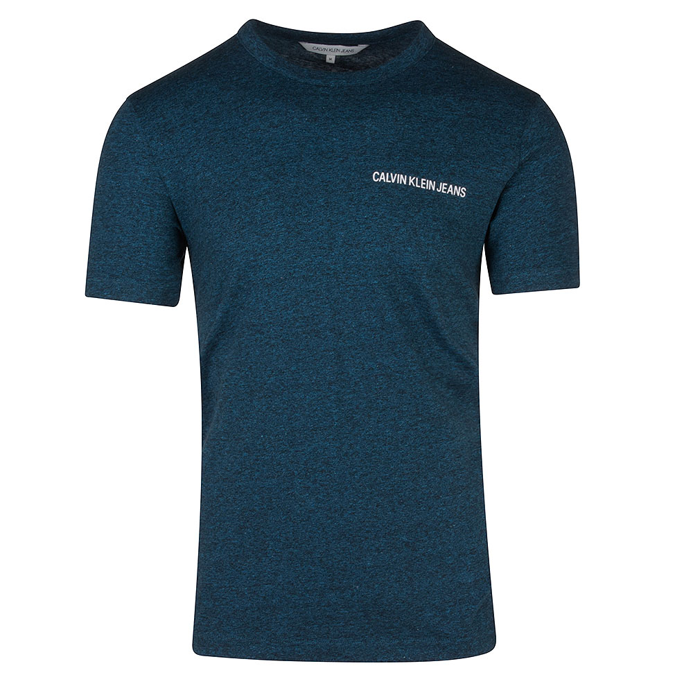 Institutional Chest Logo Tee in Blue