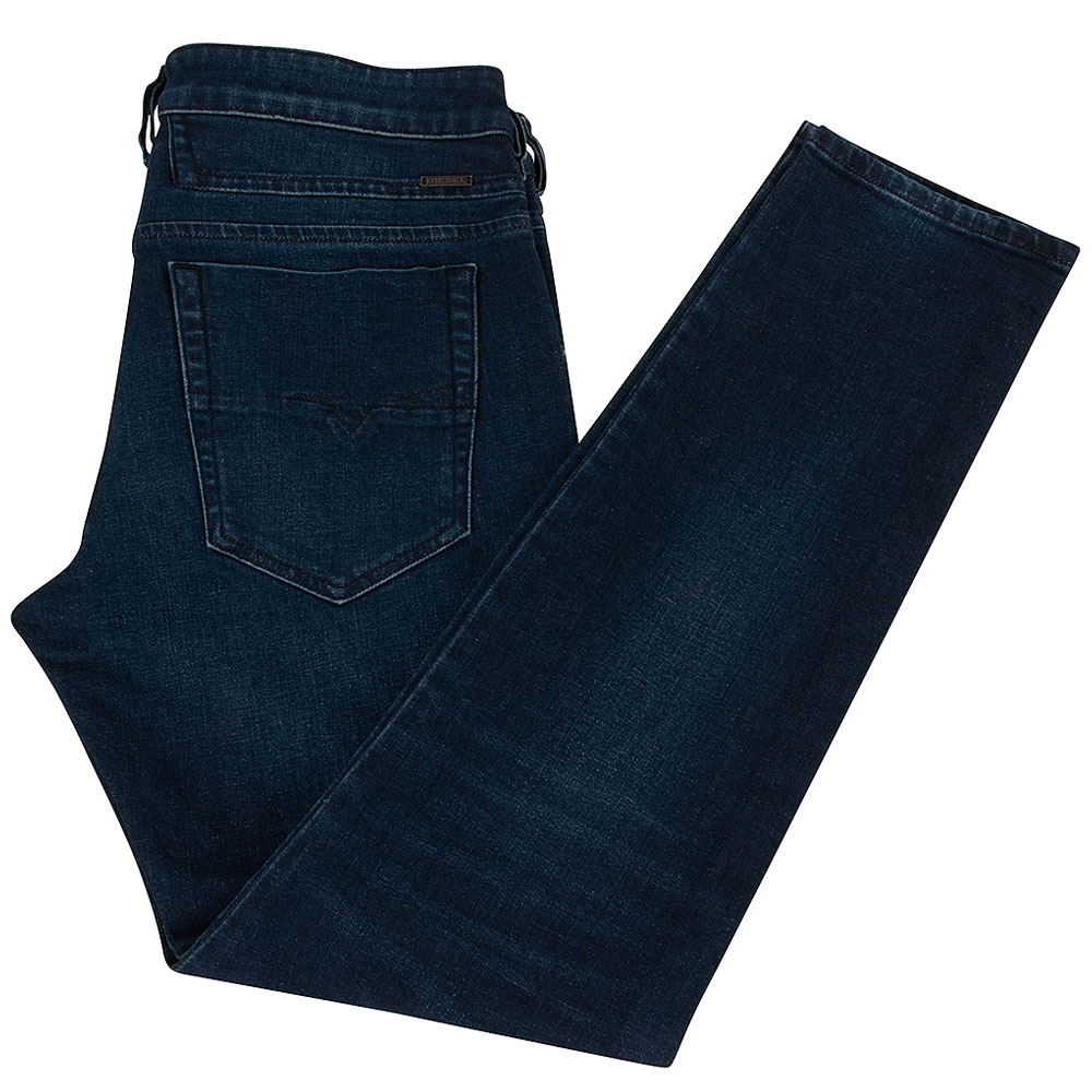 Diesel D-Bazer Tapered Fit Jeans in Mid Stn