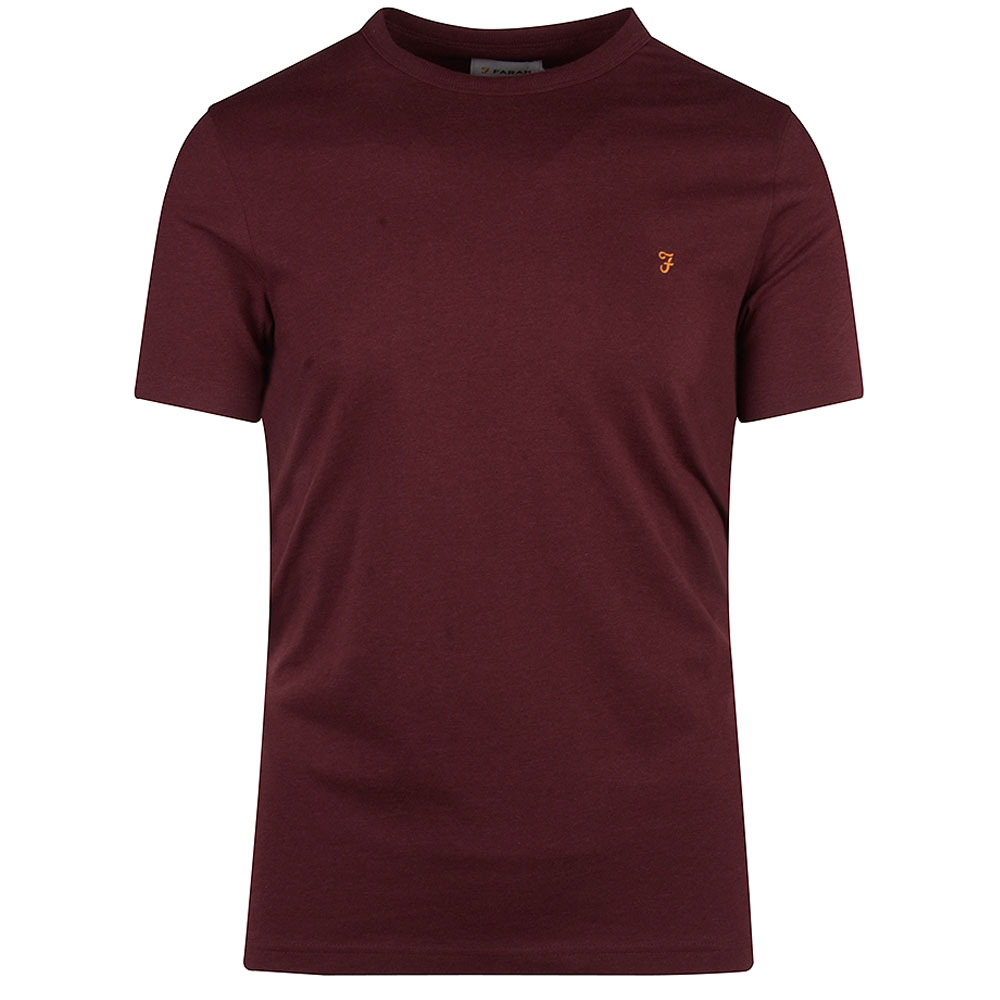 Danny SS T-Shirt in Burgundy
