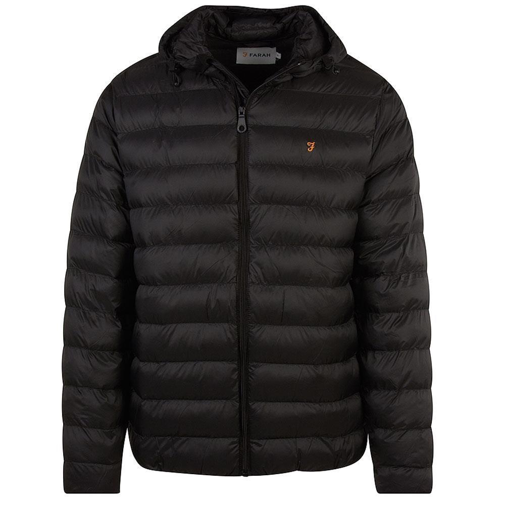Strickland Padded Coat in Black