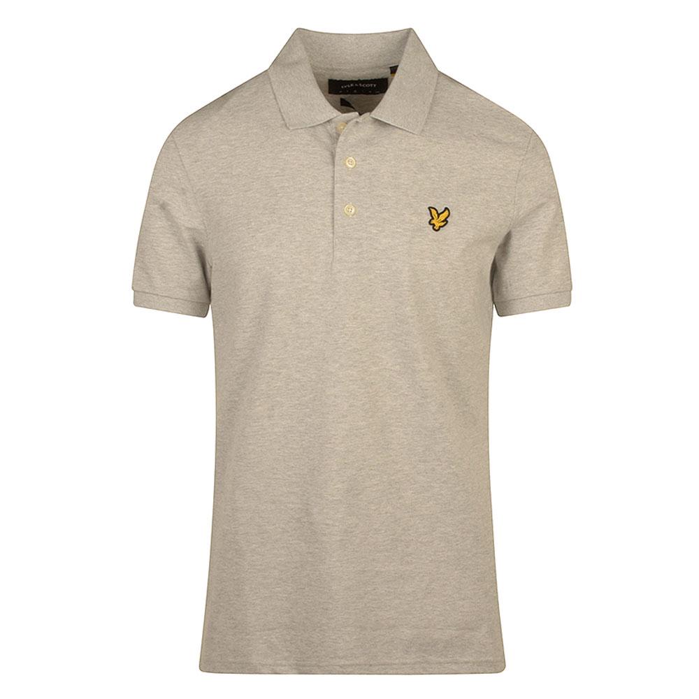 Slim Stretch Polo Shirt in Lt Grey