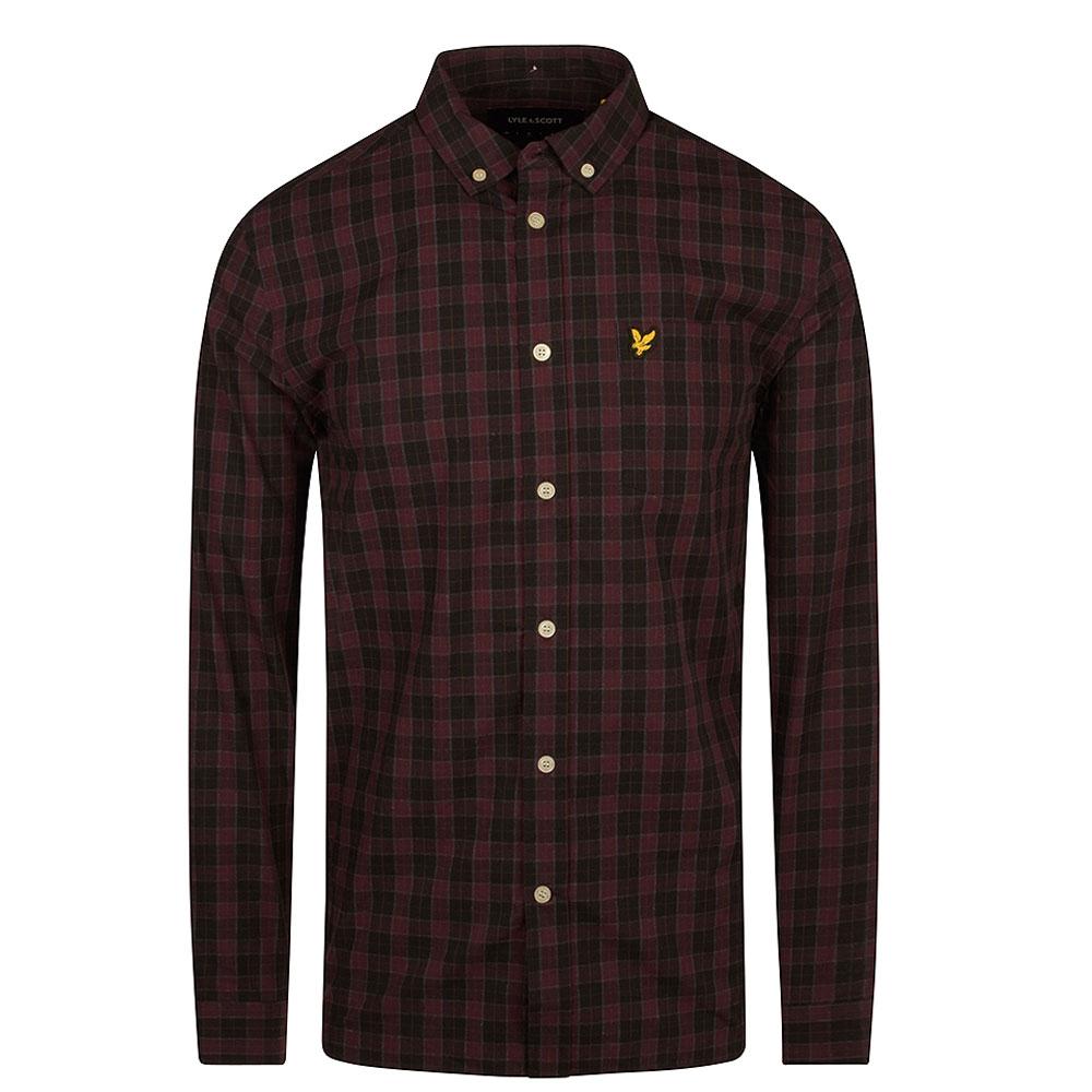 Check Poplin Shirt in Black