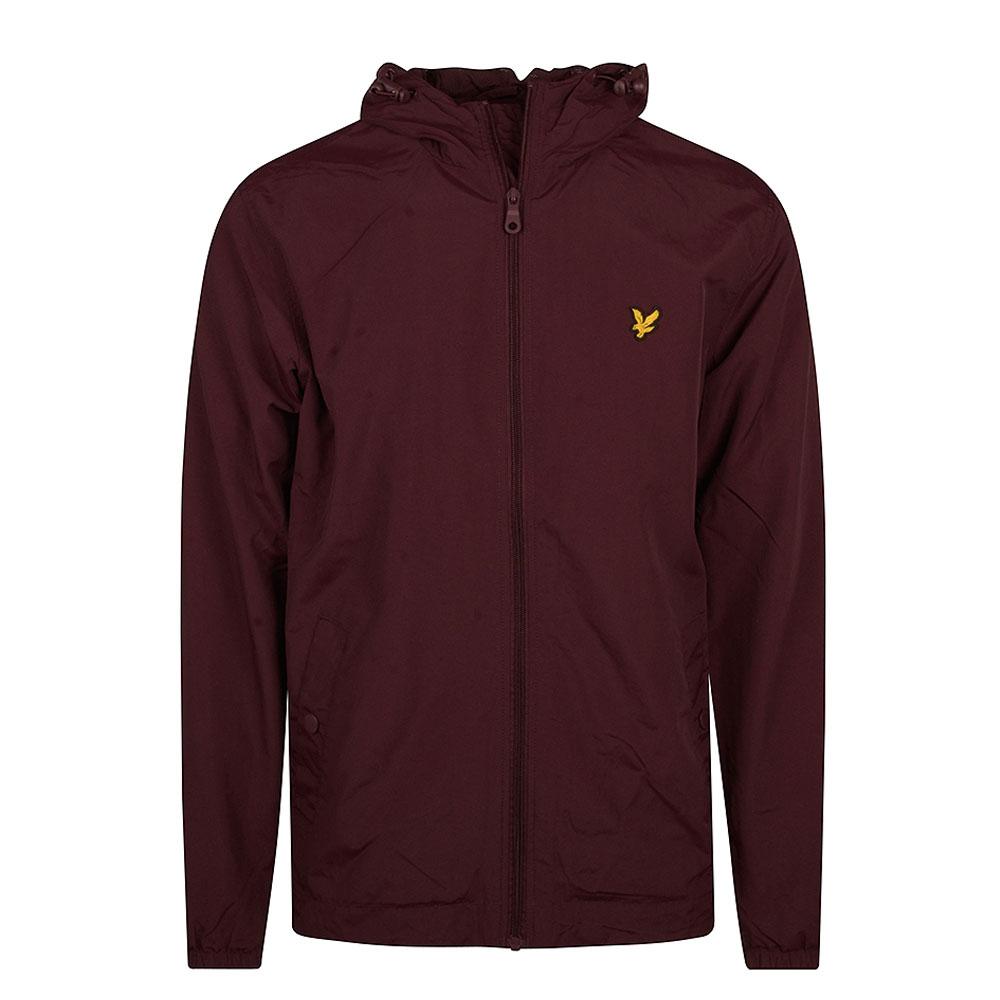 Zip Hooded Jacket in Burgundy