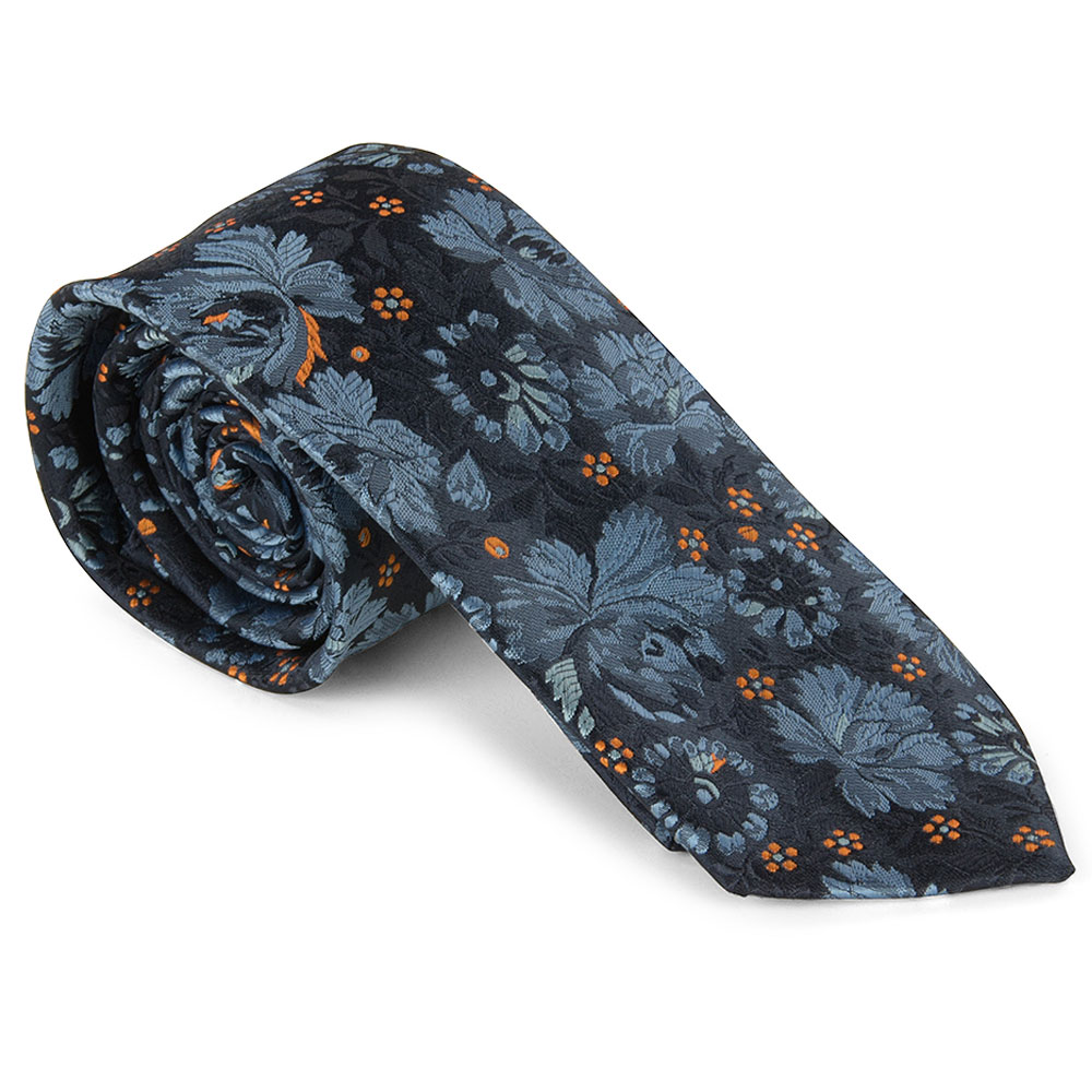 Poly Tie in Navy