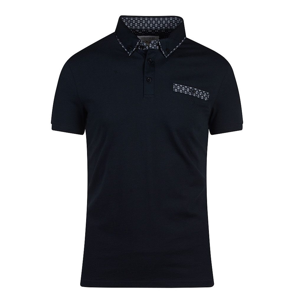 Kalstad Pique Polo Shirt in Navy