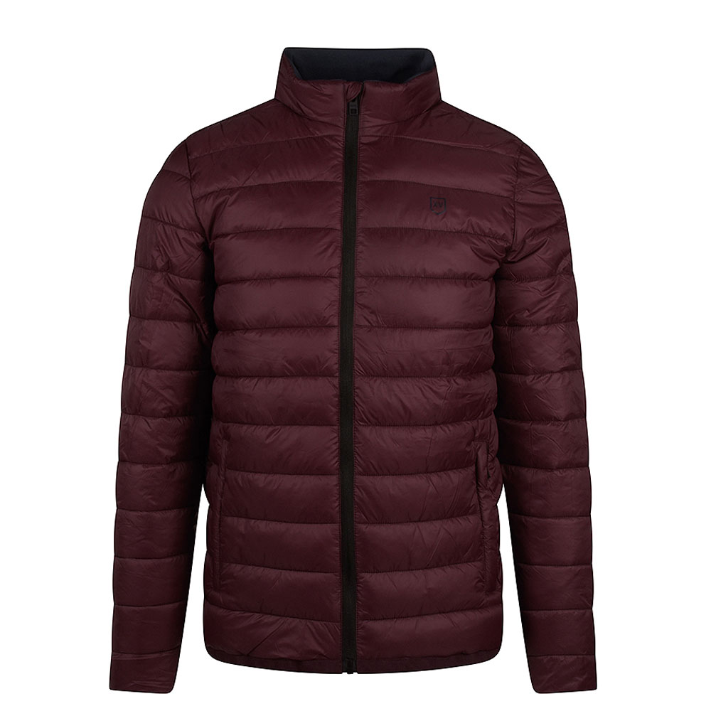 Wolf Hounds Puffa Jacket in Red