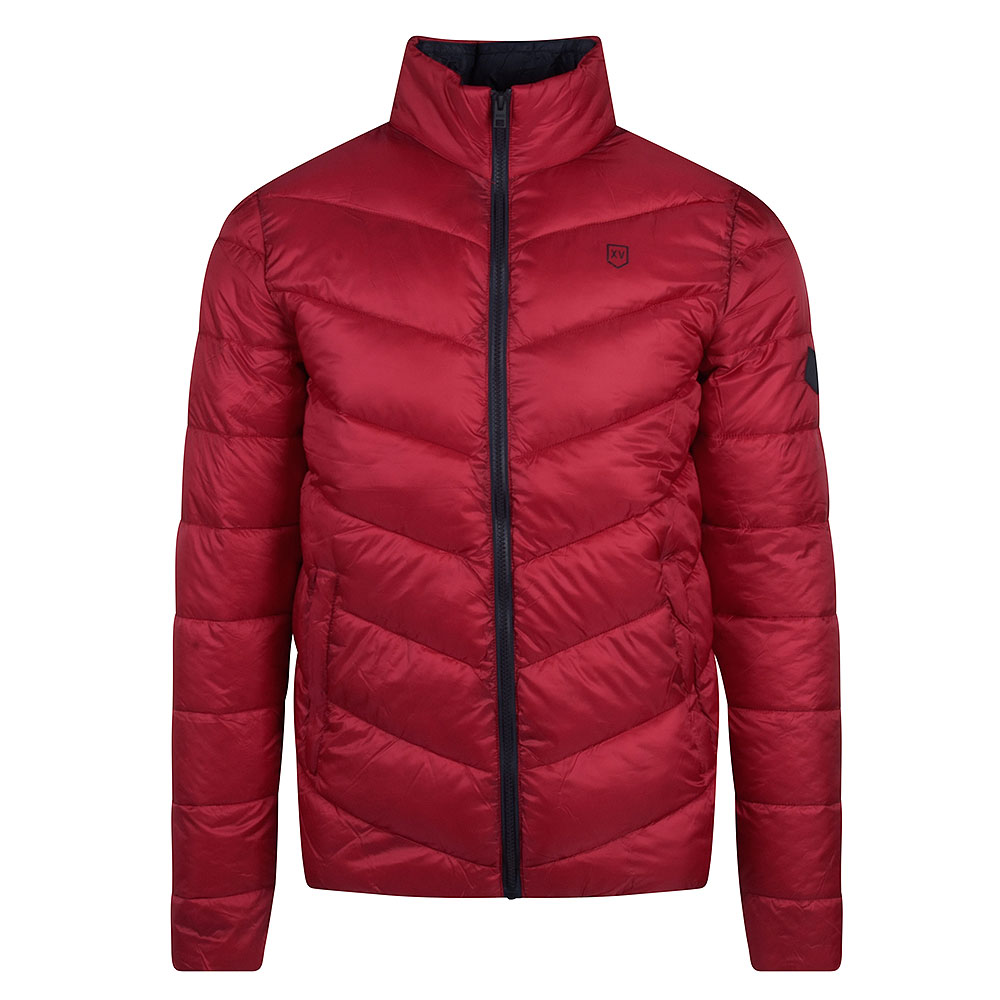 Rowdies Puffer Jacket in Red