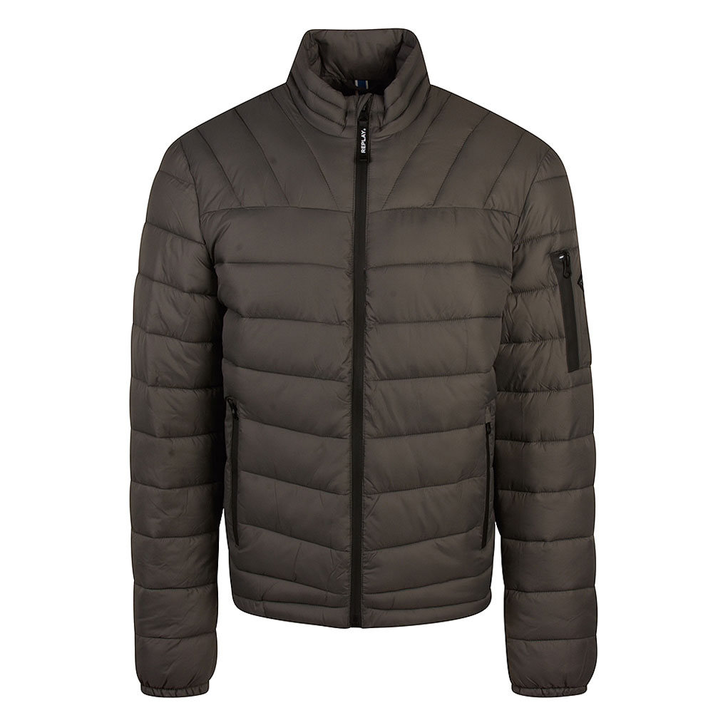 Replay Padded Puffer Jacket in Grey