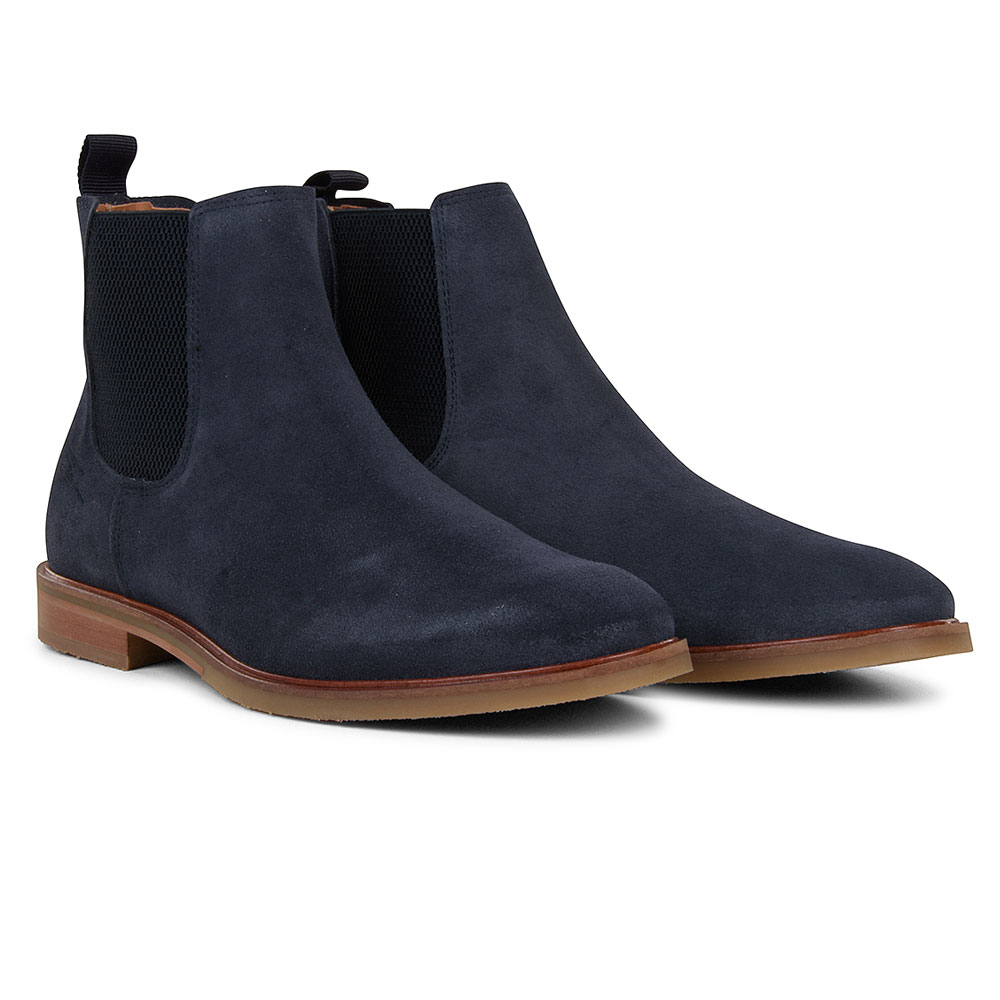 Booth Chelsea Ankle Boot in Navy