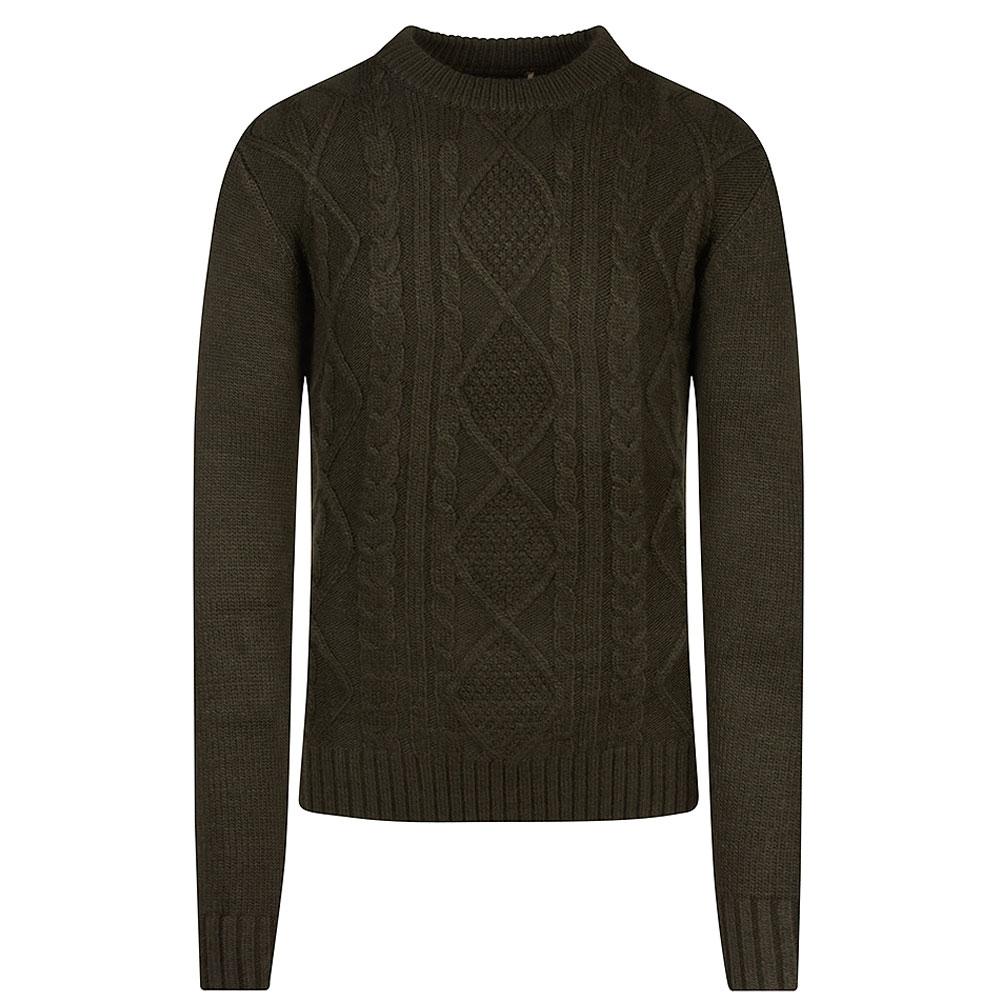 Danon Knitted Jumper in Khaki