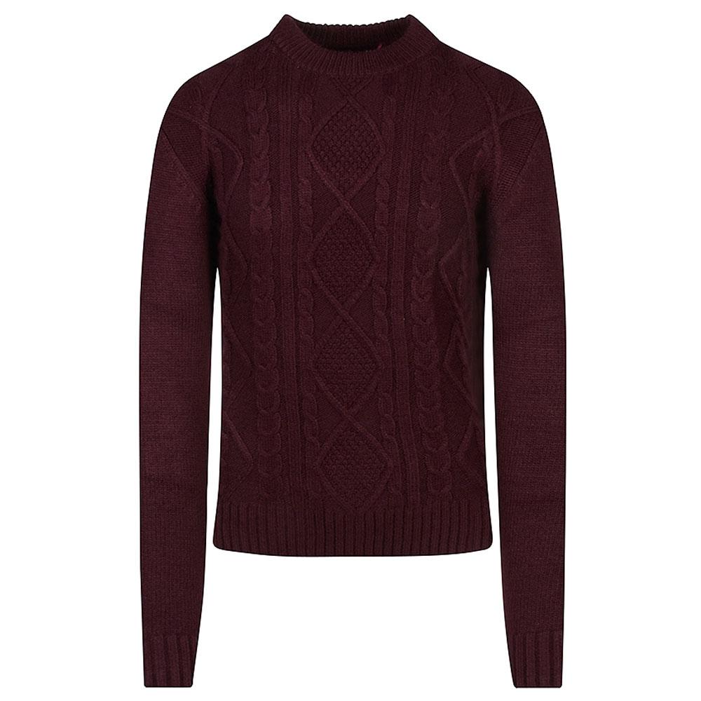 Danon Knitted Jumper in Burgundy