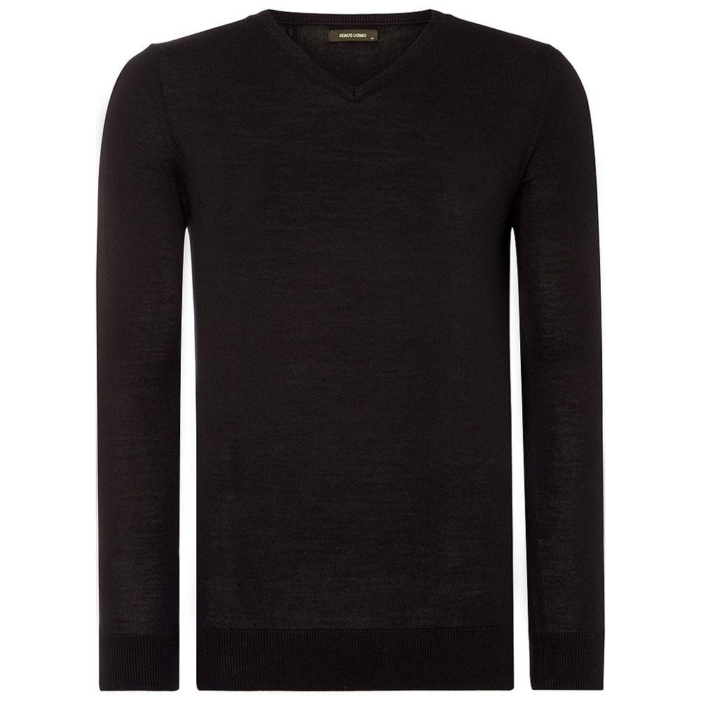 V-Neck Sweater in Black