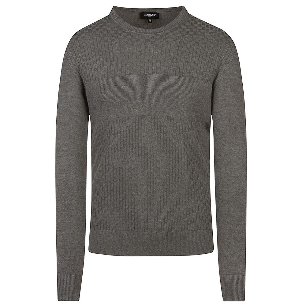 Fancy Crew Knit in Grey
