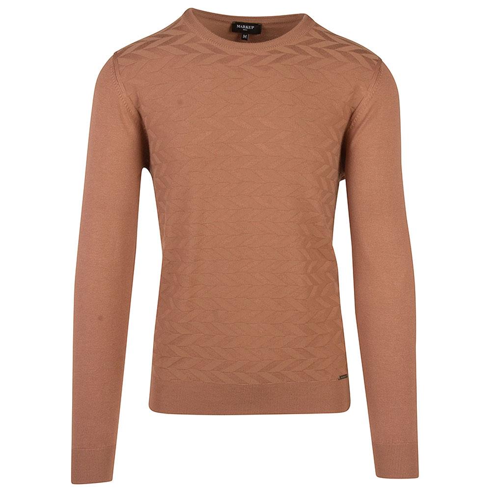 Fancy Knitted Sweater in Beige