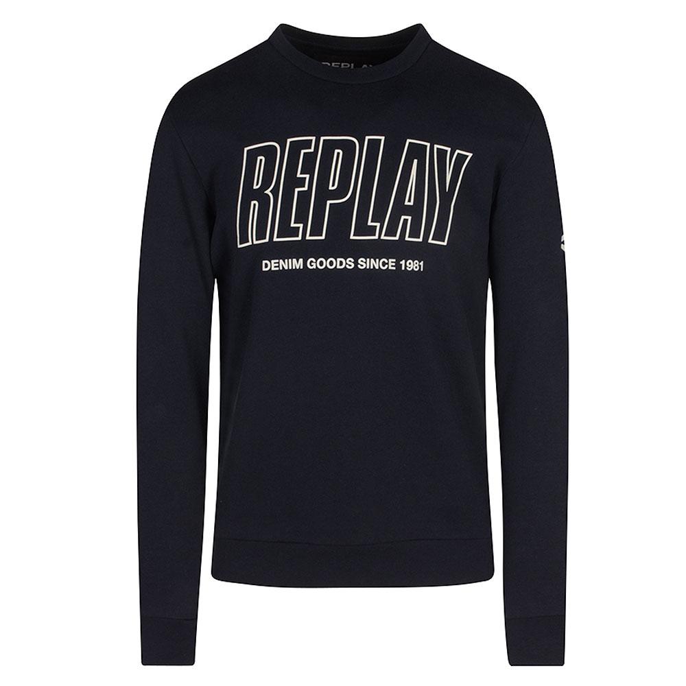 Cotton Sweatshirt in Navy