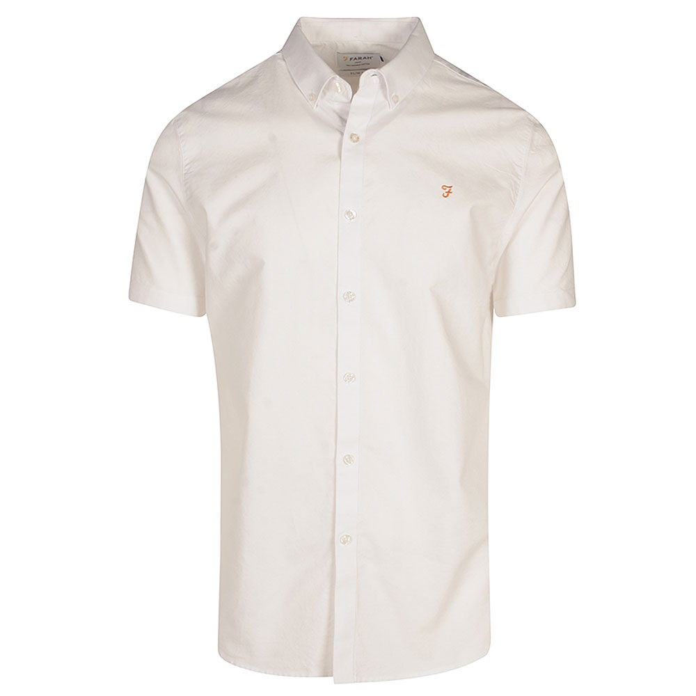 Brewer SS Shirt in White