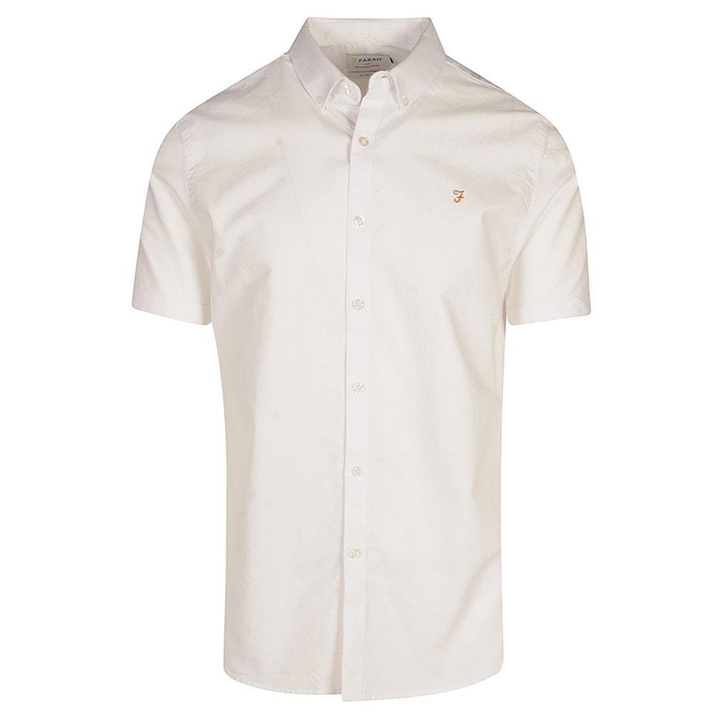 Brewer Short Sleeve Shirt in White