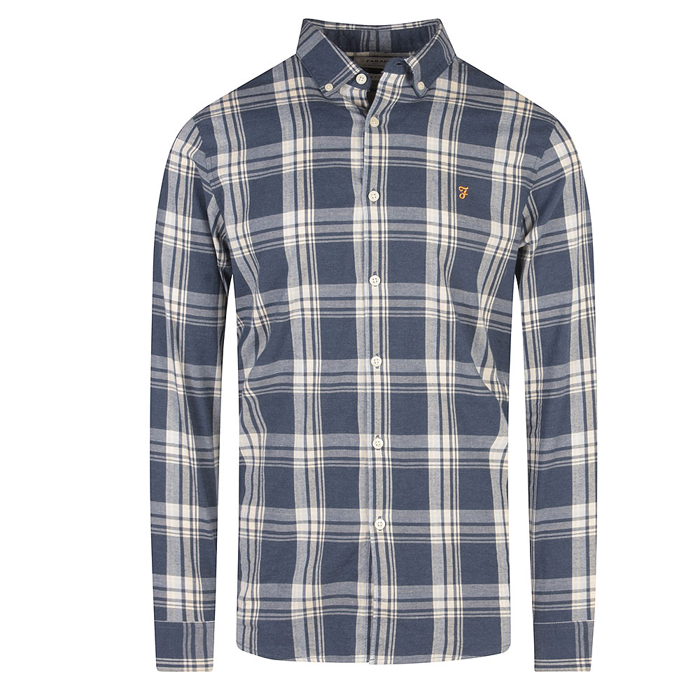 Steen Checked Shirt in Blue