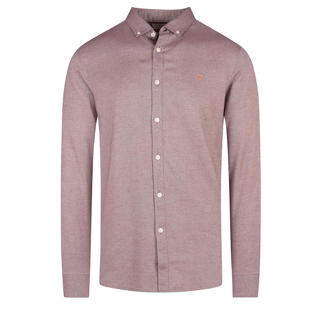 Hurst Twill Slim Fit Shirt in Purple