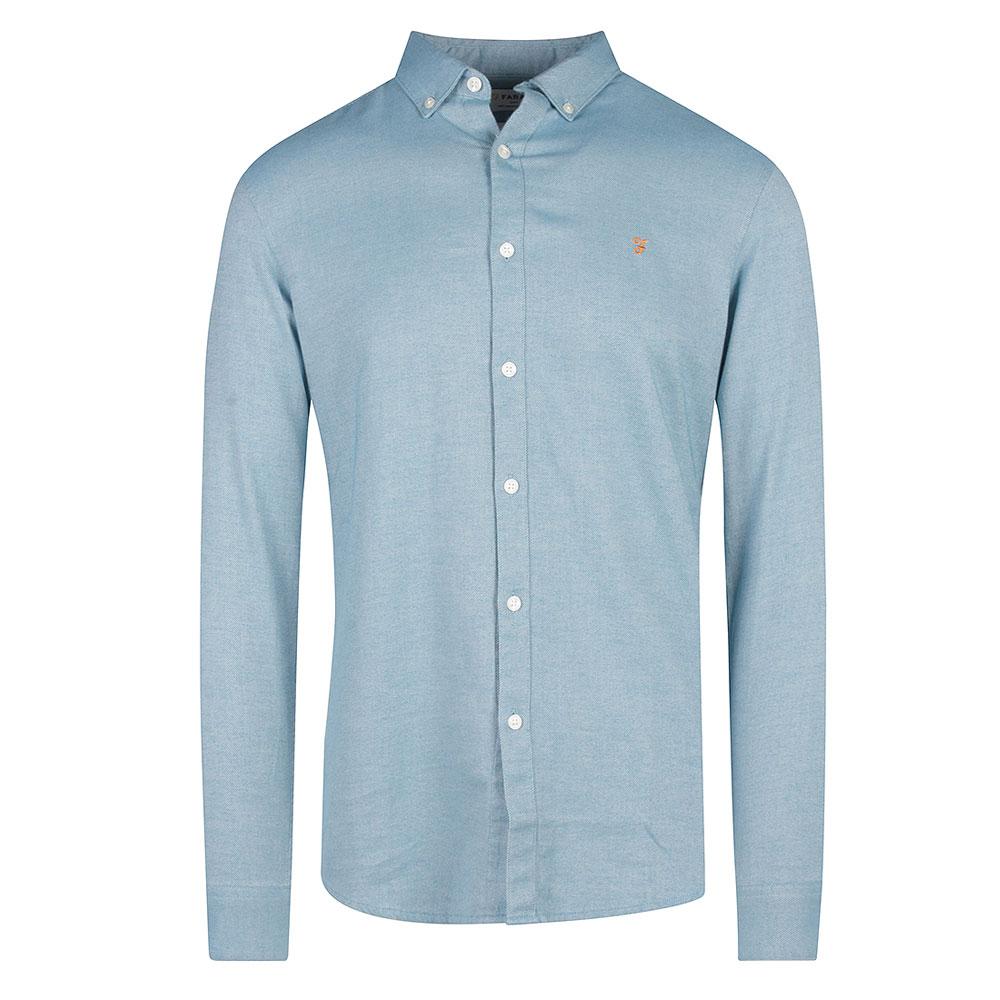 Hurst Twill Slim Fit Shirt in Blue