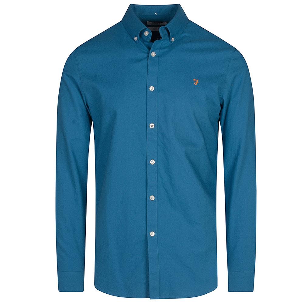 Brewer LS Shirt in Blue